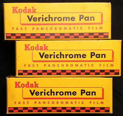 3 Rolls UNUSED CONDITION KODAK VP 118 VERICHROME PAN FILM JAN. 1959 Sealed