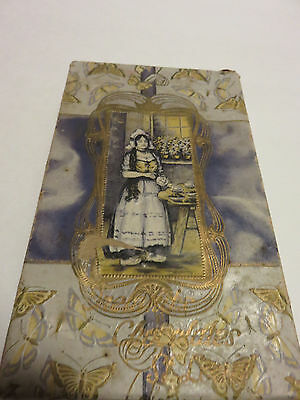 "1920s Dutch Girl ORELAND'S CHOCOLATE CANDY St. Louis BOX only! 7"" x 4.25"" x 1"""