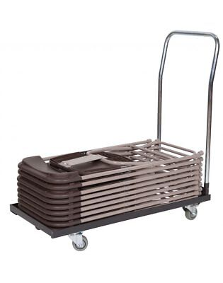 Classic Series Basic Folding Chair Storage and Transport Cart for Plastic, Resin