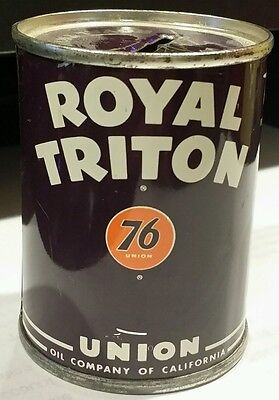 Union 76 Royal Triton Miniature Oil Can Bank