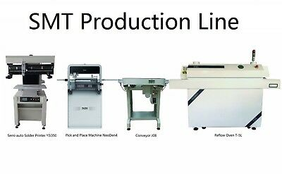 SMT Pick and Place Machine NeoDen4+Solder Printer+Conveyor+Reflow Oven