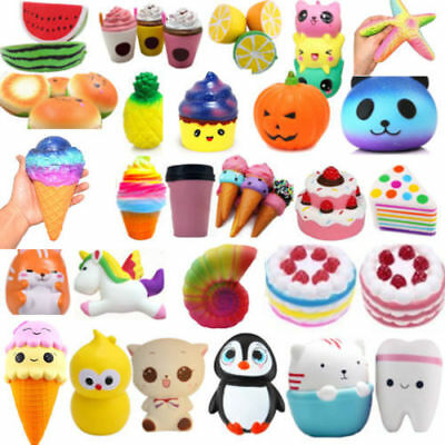 Lot Jumbo Squishy Super Soft Slow Rising Squeeze Toy Pressure Relief for Kid 1pc