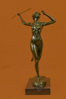 Diana Goddess Of The Bronze Sculpture Statue Figurine Figure Hunt Aldo Vital