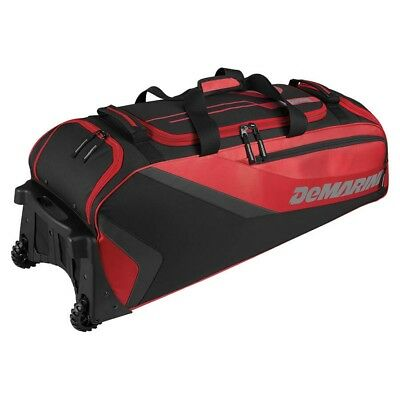 (scarlet) - DeMarini Grind Wheeled bag. DeMarini Sports. Free Shipping