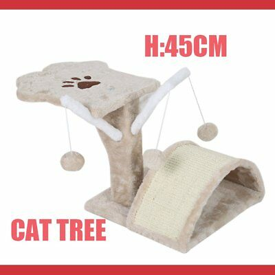 45Cm Cat Tree Kitten Scratching Post Scratcher Pole Toys Pet Gym House Bed Pp