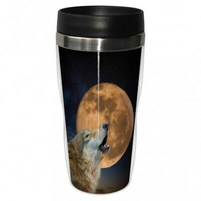 Tree Free Mug 47cl (470ml) Travel Tumbler One Wolf Moon. Delivery is Free