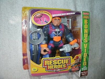 Fisher-Price Rescue Heroes Flight Team Perry Chute Rescue Pilot with Parachute