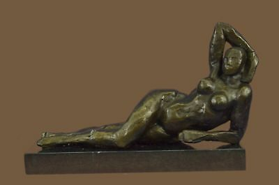 Abstract Modern Art Bronze Sculpture Statue Figurine Figure Nude Woman Numbe