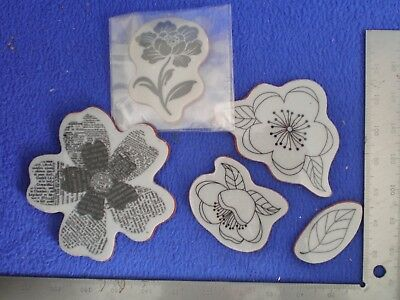 Penny Black Rubber Stamp X 5 Floral Patterns Hero Arts