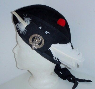 Vtg. Glengarry Hat Knights of St. Andrew Scottish Rite w/ Feather Hackle Sz 7¼