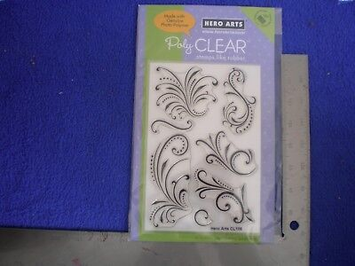 "Hero Arts Polyclear Stamp Cl106 ""Fantastic Flourishes"" Penny Black Stampendous!"