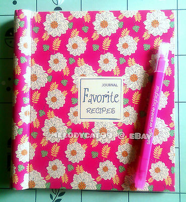 """Favorite!"" Blank Recipe Journal Food Diary DIY Recipe Book"