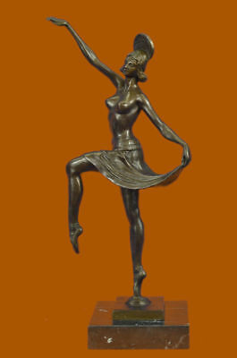 Signed Balleste, Art Bronze Sculpture Statue Figurine Figure deco dancer Art