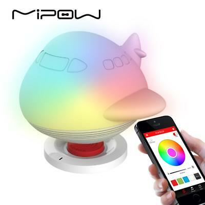 MIPOW AirWahle Smart Lights Speakers, PLAYBULB Light for Kids, Wireless Charge,
