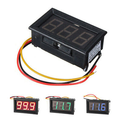 DC 0-100V 3 Wire LED Digital Display Panel Volt Meter Voltage Voltmeter Motor