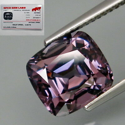 4.49Ct.FREE! Certificate Natural BIG Violet Spinel MaeSai,Thailand Lupe CLEAN!
