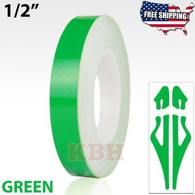 """1//2/"""" Roll Vinyl Double Line Pinstriping Pin Stripe Tape Decal Sticker 12mm GREEN"""
