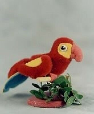 Collectible Miniature Handmade Animals Red/Gold Parrot #766. Brand New