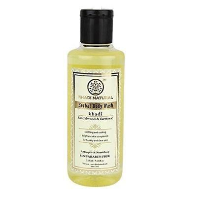 Khadi Sandal and Turmeric Body Wash 210ML