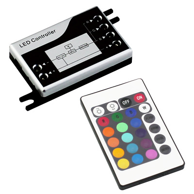 Mini LED RGB controller with IR remote