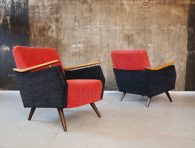1(2) 60er SESSEL MIDCENTURY 60s 1 of 2 EASY CHAIR VINTAGE 50er 50s
