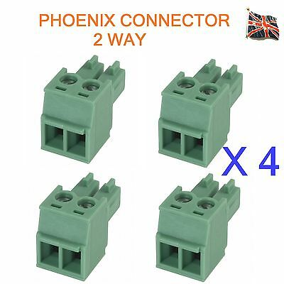 4 Lots of 2 Pin Phoenix Combicon MC Connector Professional Audio 2 Way UK Stock