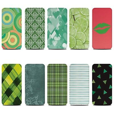 PU Leather Case for Samsung Galaxy Phones/Green Fashion/Protective Wallet/Cover