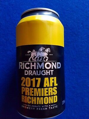 Richmond Tigers 2017  Premiership Beer Can full Great 4 collectors  FREE POST