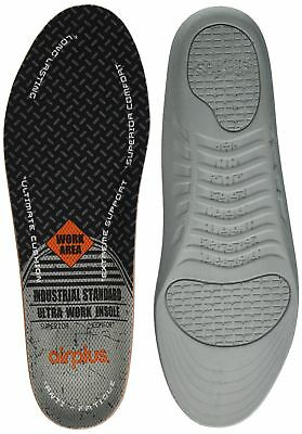 Airplus Ultra Work Memory Plus Shoe Insoles Comfort Foot Pain Relief Mens, 7-13