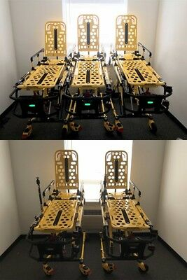 5 Stryker 6500 Power Pro stretchers incl. 10 battery, 5 chargers & 5 mattresses