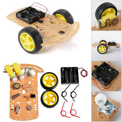 2WD Motor Robot Car Chassis Kit with Speed Encoder wheels and Battery Box UK