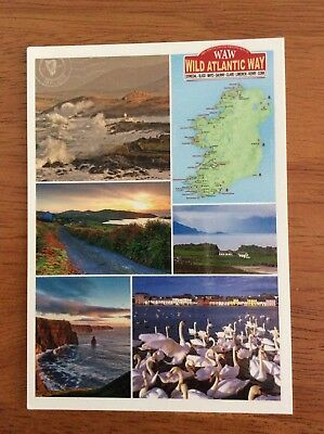 Mint Map Postcard of Ireland with Pictures by Realireland