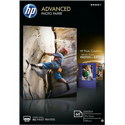 HP Advanced (10 x 15 cm) Photo Paper Glossy Borderless (60 Sheets) 250gsm