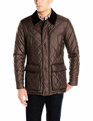 Cole Haan Men's Quilted Nylon Barn Jacket W/ Corduroy Details - Choose SZ/Color