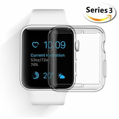 0.3mm Ultra-thin Soft Transparent Cover for Apple Watch Series 3 38mm