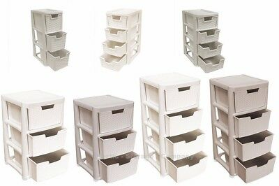 Rattan Style Plastic Storage Towers - Mini / Large - Strong - Home - Bathroom  sc 1 st  PicClick UK & RATTAN STYLE PLASTIC Storage Towers - Mini / Large - Strong - Home ...