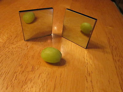 "Two Way See Through Mirror One Pair 2"" x 2"" for Surveilance or Spy Camera"