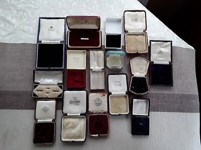Collection of Antique and Vintage Jewellery Boxes (Job lot of 15)