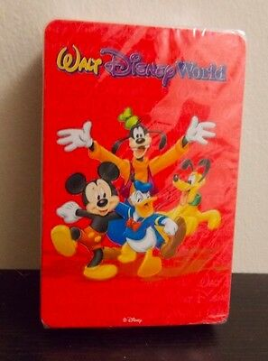 walt DISNEY WORLD brand new and sealed playing cards Mickey Mouse goofy donald