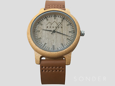 Wood Watches by S O N D E R - Classic Wooden Watches, Coffee Gents Wooden Watch,