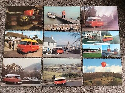 Collection of 9 Royal Mail Themed Postcards - Nice Clean Condition