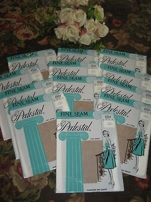 Vintage New Seamed Nylon Stockings Size 11 Intrigue  Gorgeous 12 Pair In Lot
