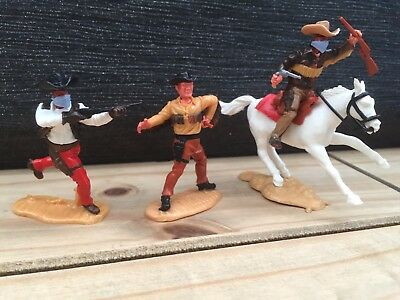 VINTAGE TIMPO COWBOYS EARLY 1980s SET OF THREE