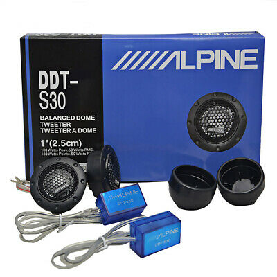 New DDT-S30 A pair Enhance Sound Music Soft Dome Balanced Car Tweeters 360W