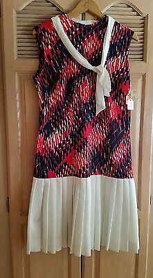 NOS NEW Vintage Ladies 4th of July Red White Blue Dress Size 18 w/tags