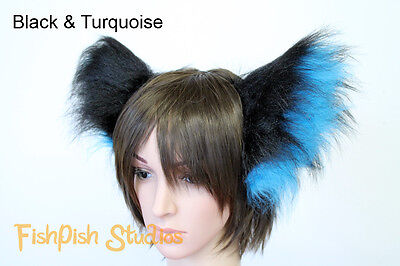 Fluffy Ears on Headband - for cat, wolf or fox Cosplay and Festivals