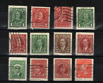 Canada   Various  Booklet  Stamps  Used