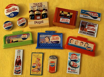 Lot Of 32 Pepsi Magnets Assorted Shapes And Sizes