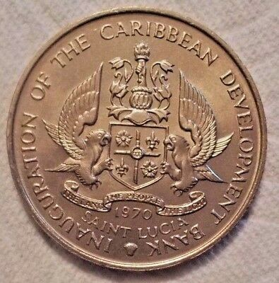 1970 SAINT LUCIA 4 Dollars KM# 11 FAO Uncirculated Cupro-nic Coin Possible PROOF