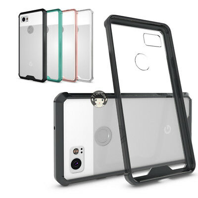 For Google Pixel 2 XL Shockproof Ultra-thin Clear PC+ TPU Bumper Back Case Cover
